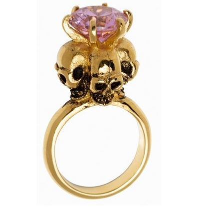 Picture of Four Skulls Ring (Pink)