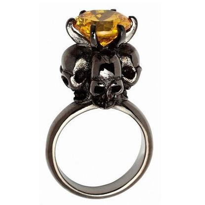 Picture of Four Skulls Ring (Yellow)